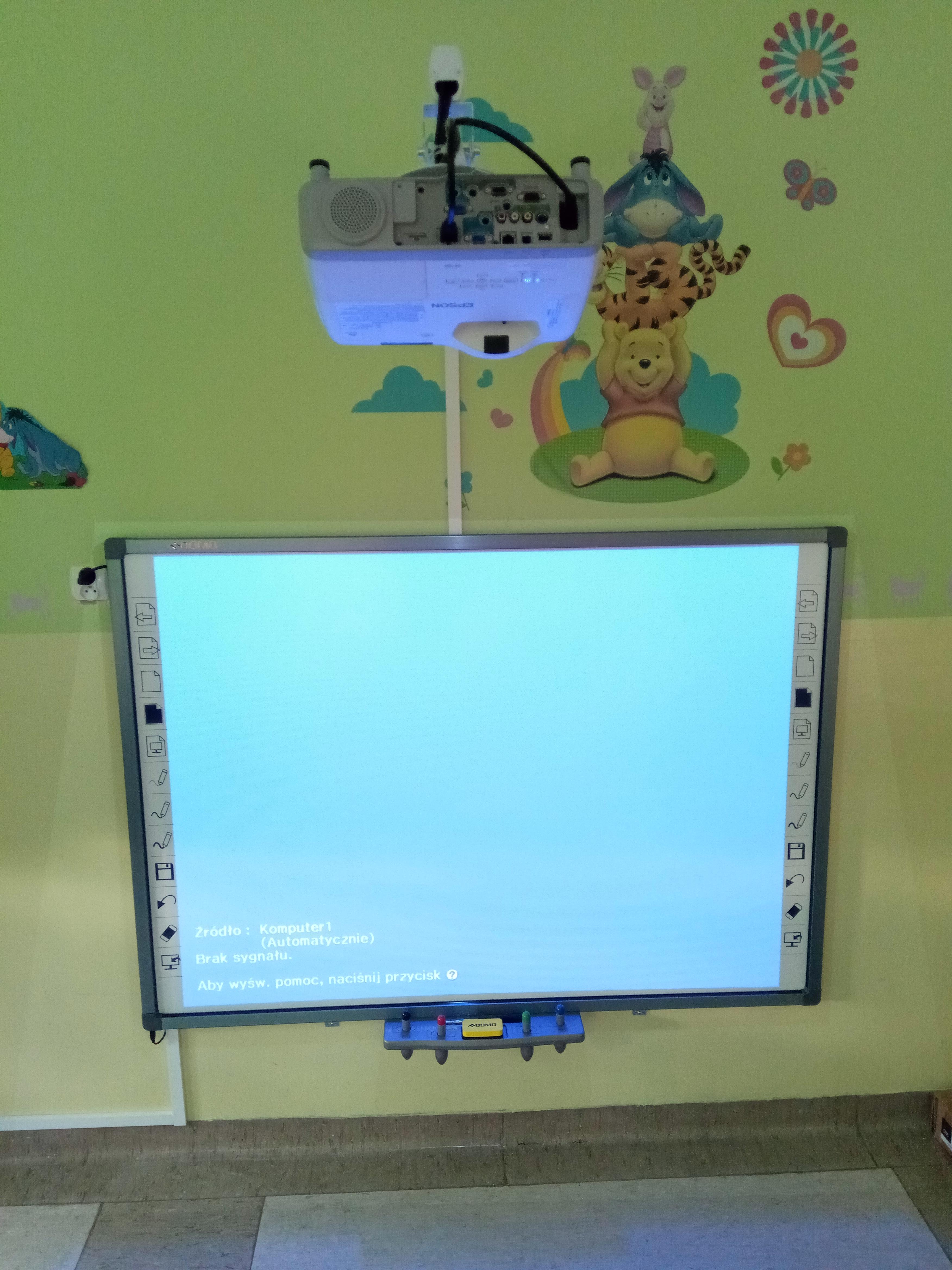 Zestaw interaktywny - sala zajęć w Przedszkolu