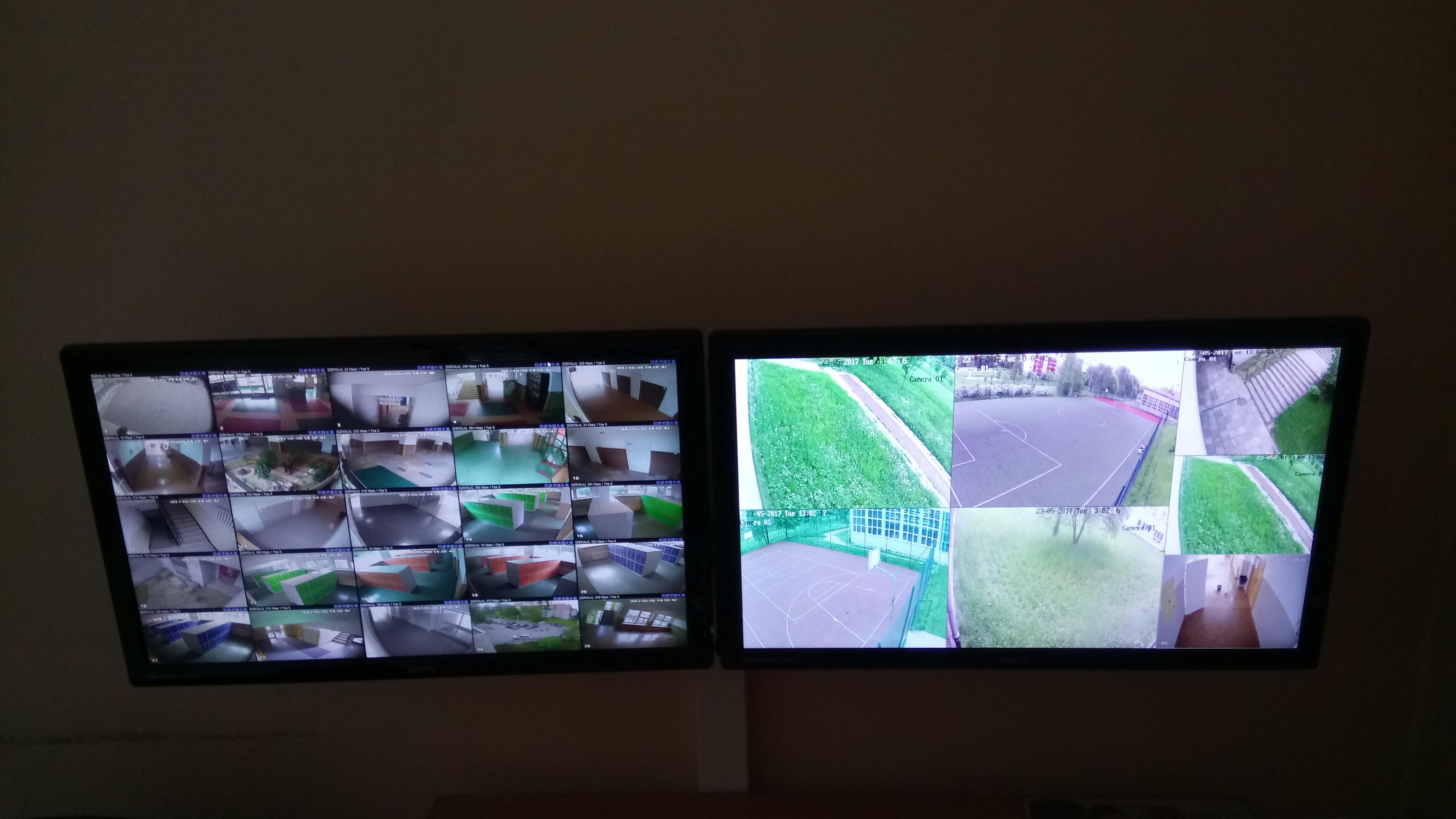 Monitoring wizyjny szkoły - 32 kamery.
